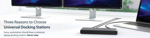 Universal laptop docking stations